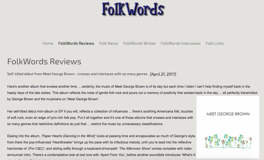 Review:  FolkWords