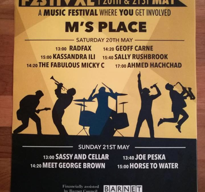 North Finchley Festival presents Meet George Brown @ M's Place, 21st May 2017